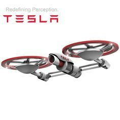 The Tesla drone not only has an innovative design, but is also packed with features such as a 4k camera.