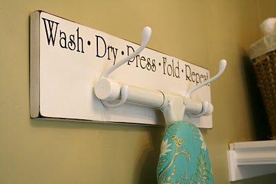 Great way to hang an ironing board