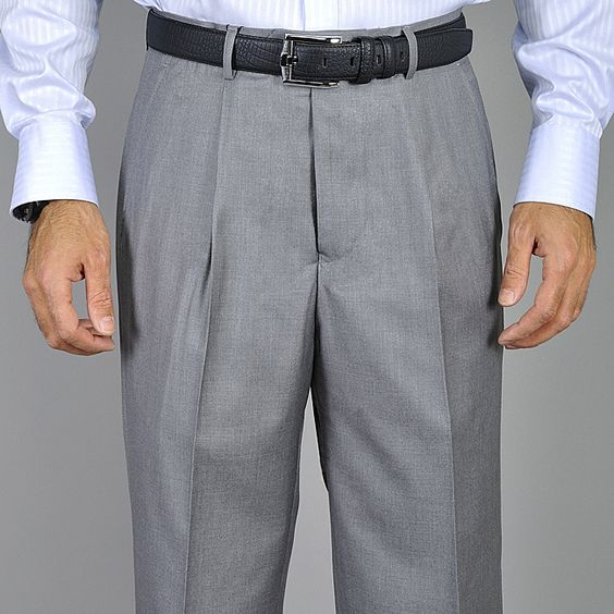 Men's Light Single Pleat Pants