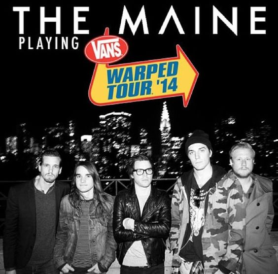 So excited to go to Warped Tour for the first time this summer. Even more excited because my favorite band will be there. If you're going, don't miss The Maine's set!