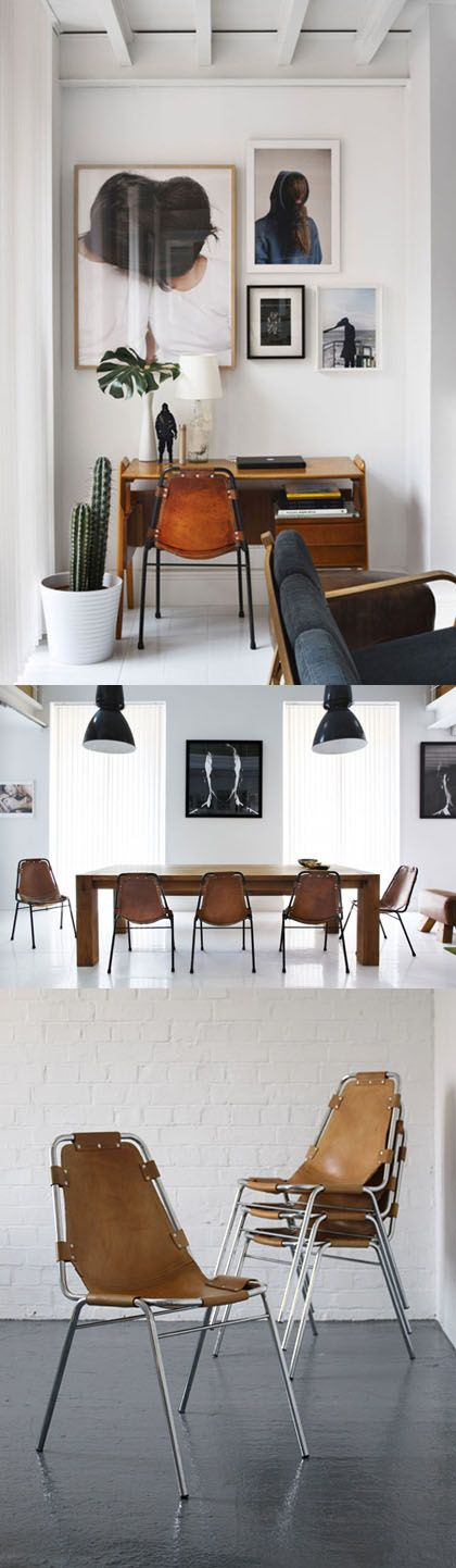 Charlotte_Perriand_Les Arcs_Chairs02: Arcs Chairs02, Chair Design, Leather Office Chair