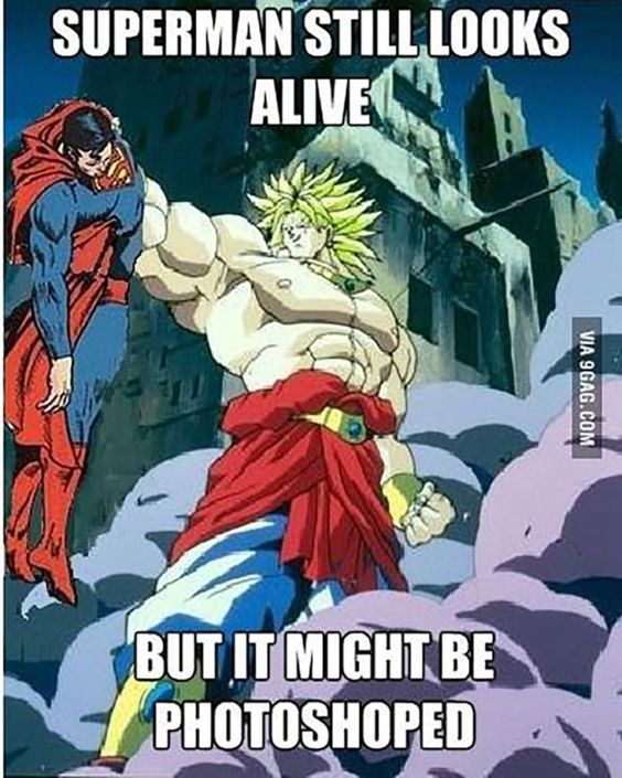 Goku grabbing Superman