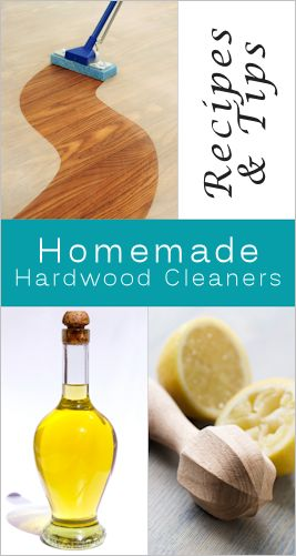 Homemade Hardwood Cleaners. Several good tips for Scuff mark removal, Wax Removal, Scratch Repair, and several Recipes for Mopping solutions and DIY Polish.
