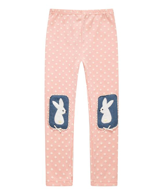 Love this Pink Polka Dot Rabbit Leggings - Infant, Toddler & Girls by Richie House on #zulily! #zulilyfinds