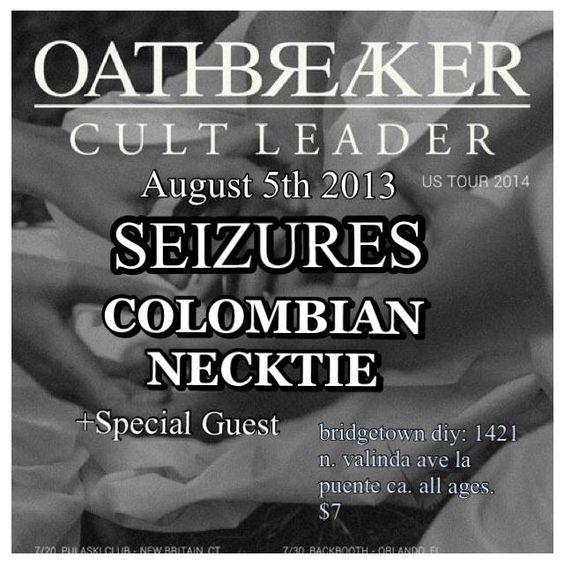 Seizures, Colombian Necktie - La Puente 2014