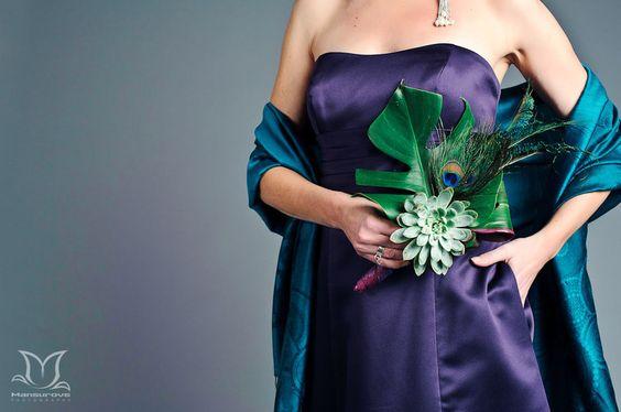 purple and Peacock Wedding