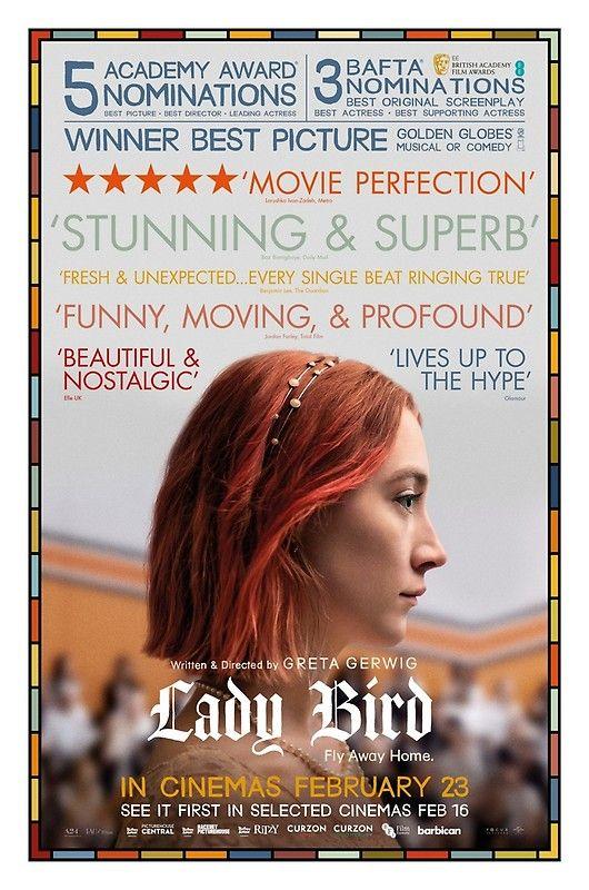 Lady Bird Critics Film Poster Poster By Dearesthoneybee Lady Bird Golden Globes Movies Lady