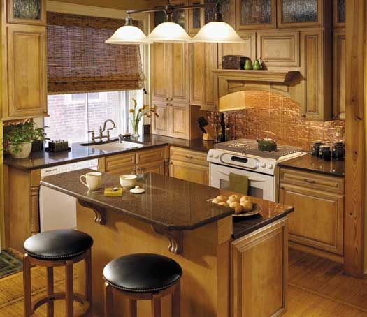 Light Brown Kitchen Cabinets: Kitchen Remodel In Philadephia. StarMark Cabinetry Augusta