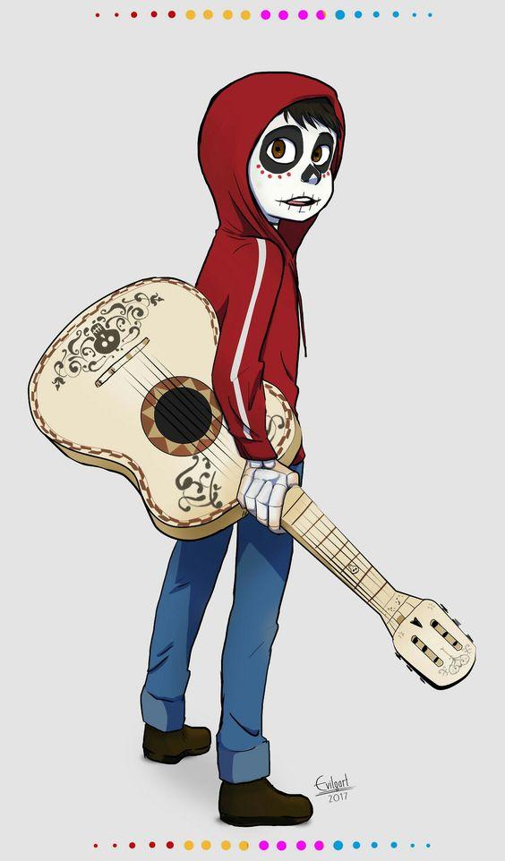 Guitarra De Coco Dibujo Para Colorear