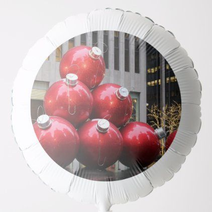Gigantic Christmas Decorations Nyc 2020 Huge Christmas Ball Ornaments in NYC Holiday Balloon | Zazzle.