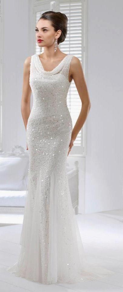 a little bit of bling but so elegant wedding dresses