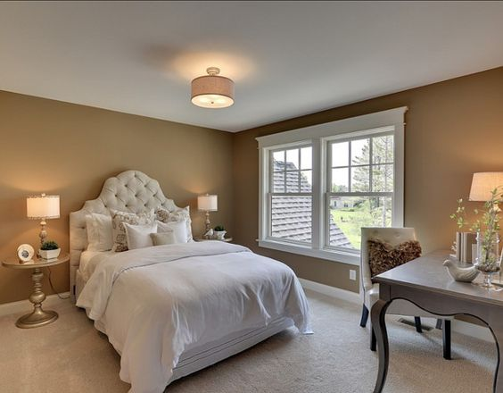 Beautiful family paint colors and family homes on pinterest for Pictures of beautiful guest bedrooms