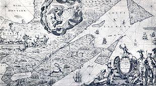 Carte de la Nouvelle France dédiée à Colbert (17°s). - Le clan Colbert devient une pépinière de grands commis qui donnera à Louis XIV 2 secrétaires d'Etat aux Affaires Étrangères (Croissy, puis son fils Torcy), 1 secrétaire d'état à la Marine (Seignelay, fils de Colbert), 1 contrôleur général des Finances (Desmarets), 2 intendants  (du Terron et le marquis de Menais), 1 archevêché, 1 général, etc.