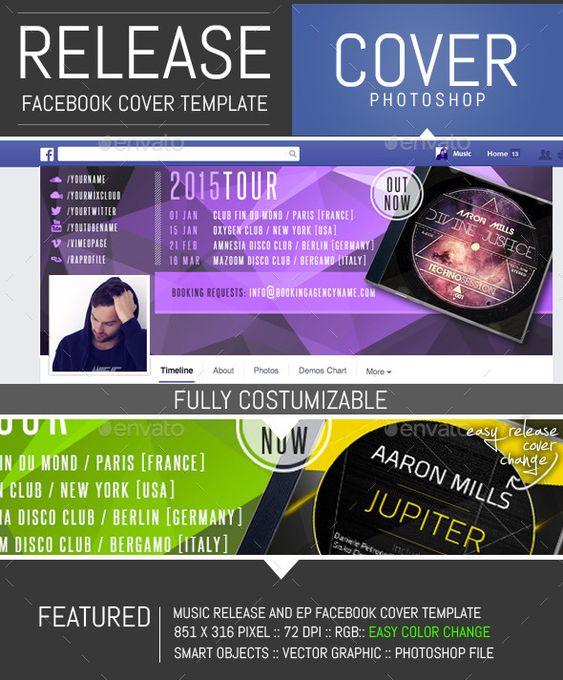 Dj Release Facebook Timeline Cover Template Timeline covers - advertising timeline template