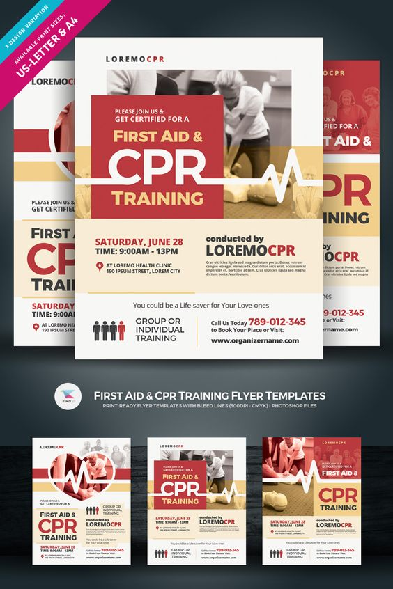 First Aid Cpr Training Flyer Corporate Identity Template 84985 Cpr Training First Aid Cpr First Aid