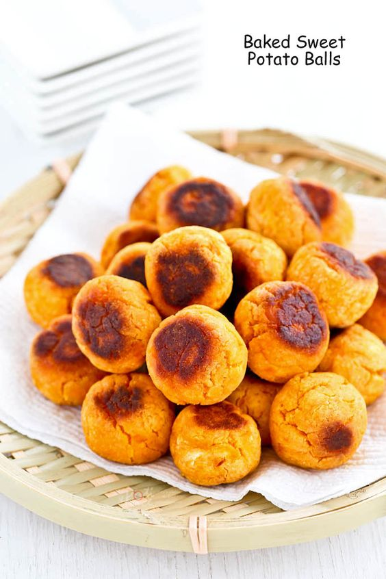 Baked Sweet Potato Balls | Recipe | Baked sweet potatoes, It is and ...