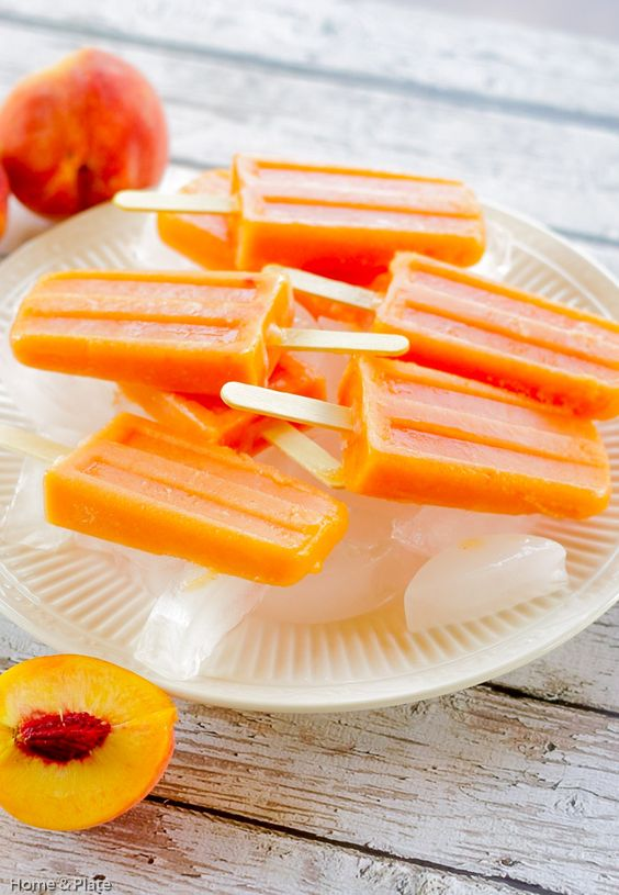 Peach Ginger Ice Pops | Feelings, Home and Popsicles