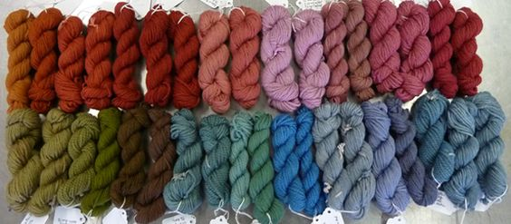Natural dyes, colour samples and recipes by Kathy Hattori @ Botanical Colors.