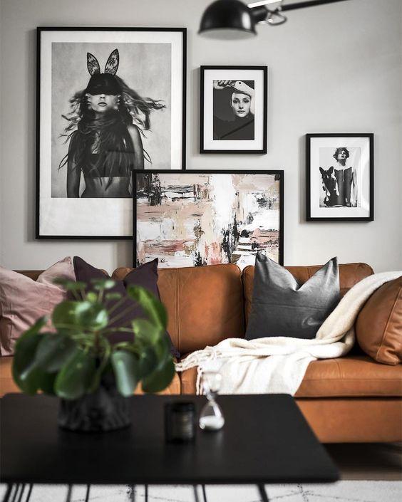 Re Create The Look 12 Scandinavian Gallery Wall Ideas You Ll Love Scandinavian Wall Decor Dark Walls Living Room Best Wall Colors