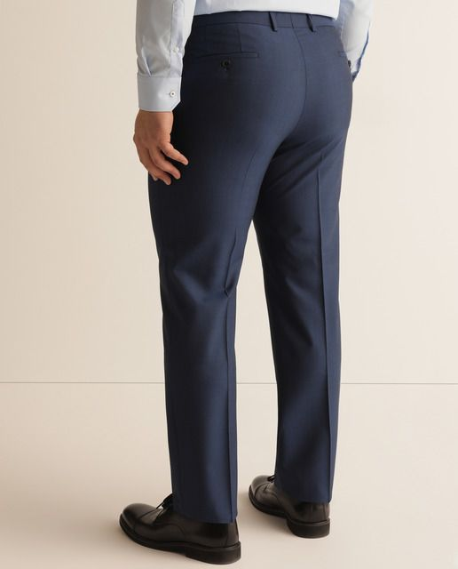 Boss Pantalon De Vestir De Hombre Regular Azul Tallas Grandes En 2020 Pantalones De Vestir Pantalones Pantalones De Traje