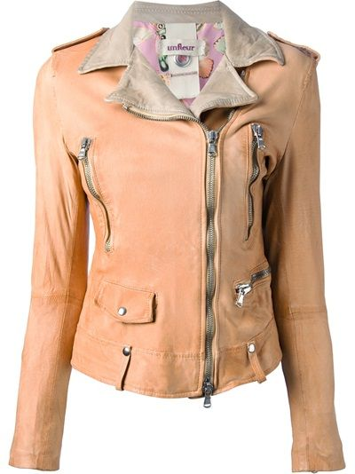UNFLEUR Leather Biker Jacket