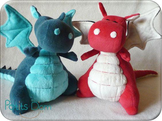 Dragon et peluche musicale