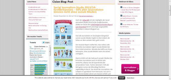 Social Journalism- #Studie 2013/14: Großbritannien - 50% aller Journalisten können nicht ohne soziale Medien! #Infograik