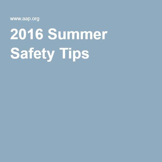 2016 Summer Safety Tips