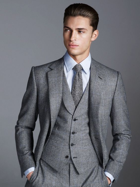 Gieves Hawkes three piece gray suit. | Suit Me Up- Men's