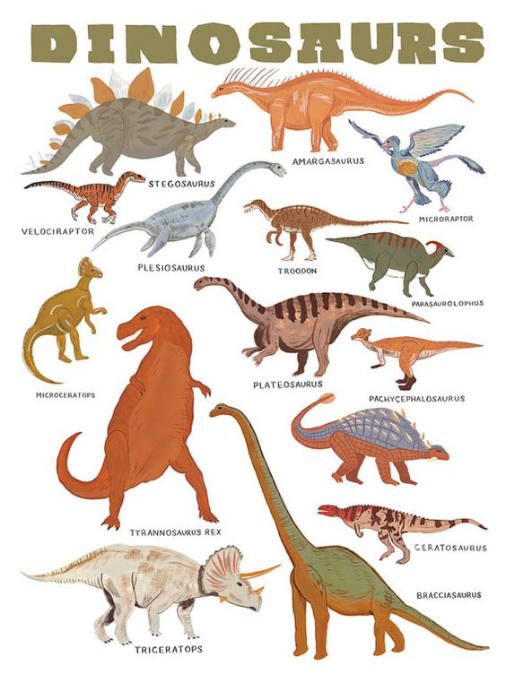 a print to hang in the room of your favorite dinosaur fan.