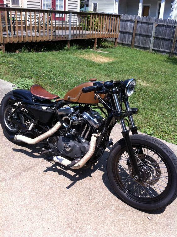 Bobbers, Sportster bobber and Motorbikes on Pinterest