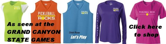 New Ladies pickleball clothing line introduced at the 2013 Grand Canyon State Games tournament.