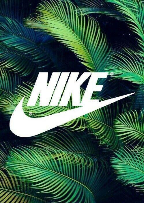 Nike Fond D Ecran Iphone Wallpaper Tendance Just Do It Tapisserie Palmiers Vert Green Nike Wallpaper Nike Logo Wallpapers Nike Wallpaper Iphone