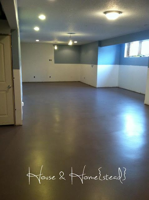 Paint basement floors ideas for a budget basement pinterest stains finished concrete - Painting basement floor painting finishing and covering ...