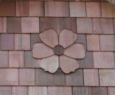 Flower Shingle Carving