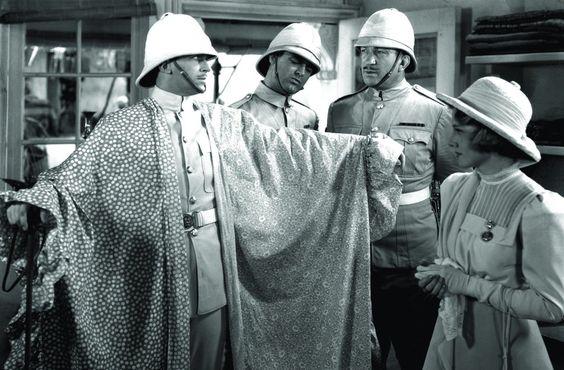 Joan Fontaine, Cary Grant, Douglas Fairbanks Jr., and Victor McLaglen in Gunga Din (1939)