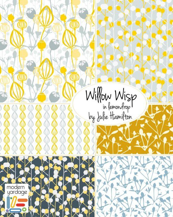 Willow wisp in lemondrop for modern yardage fabric ~ julie hamilton designs {artistically afflicted blog}