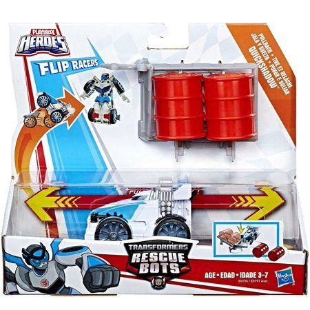 Playskool Heroes Transformers Rescue Bots Flip Racers Quickshadow Walmart Com Transformers Rescue Bots Rescue Bots Transformers