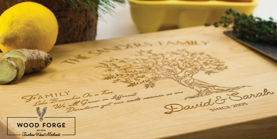 Our personalized cutting boards are finely crafted and custom engraved. They make the perfect gift for friends and family. Personalized cutting