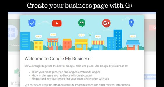 Create your business page with G+