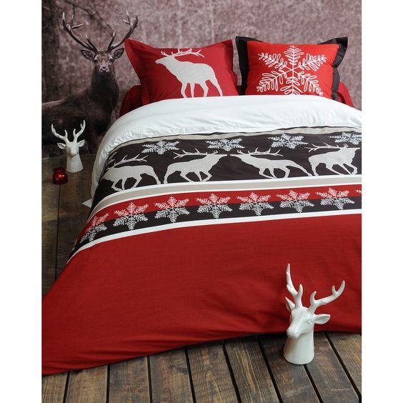 Housse de couette cerf style chalet id es cadeaux de no l meubles et d co - Housse de couette chalet ...