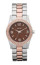 DKNY Glitz Brown Mother-of-Pearl Dial Women's Watch #NY8479
