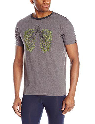 prAna Mens Fresh Air T-Shirt, Charcoal, Large