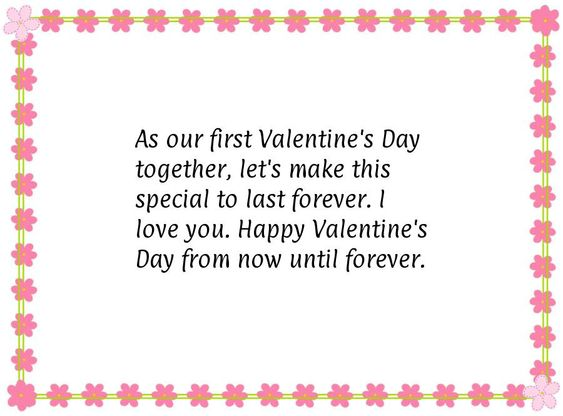 as our first valentines day together lets make this special to last forever i love you happy valentines day from now until forever pinterest - First Valentines Day