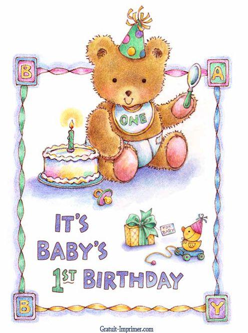 carte anniversaire 1 an gratuite à imprimer idée de carte anniversaire gratuite 1 an | Carte anniversaire