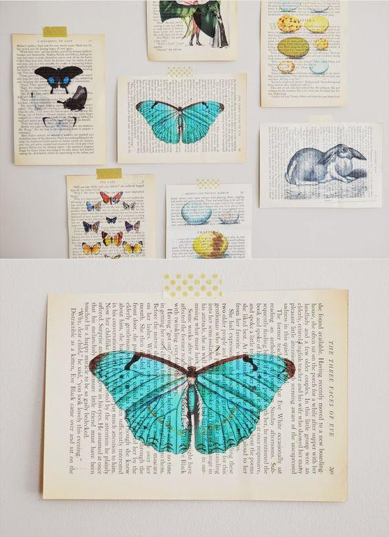 sarah m style: let's get crafty: DIY vintage book page art.