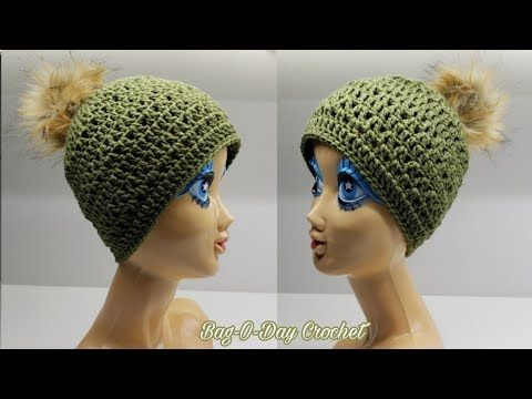How To Crochet A Beanie Easy Breezy Beanie Hat Bag O Day Crochet Tutorial 542 Youtube Crochet Tutorial Crochet Beanie Crochet