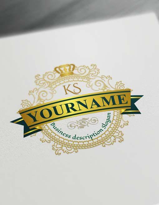 Luxurious Crown Logo Design Free Vintage Logo Maker Logo Design Free Letter Logo Design Vintage Logo Maker