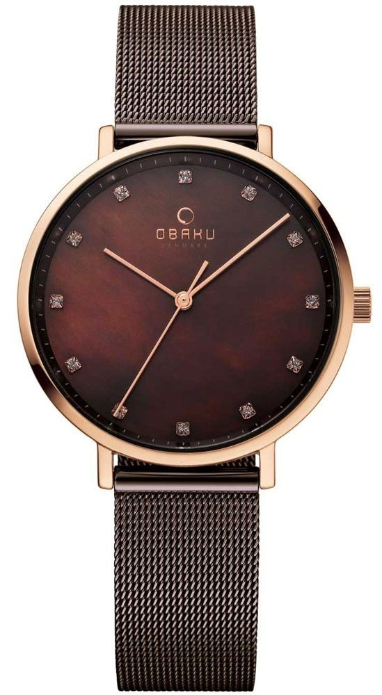 Obaku Herren Edelstahl Armbanduhr V182GMCWMC Datum