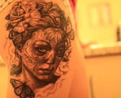 I love dia de los muertos tattoos